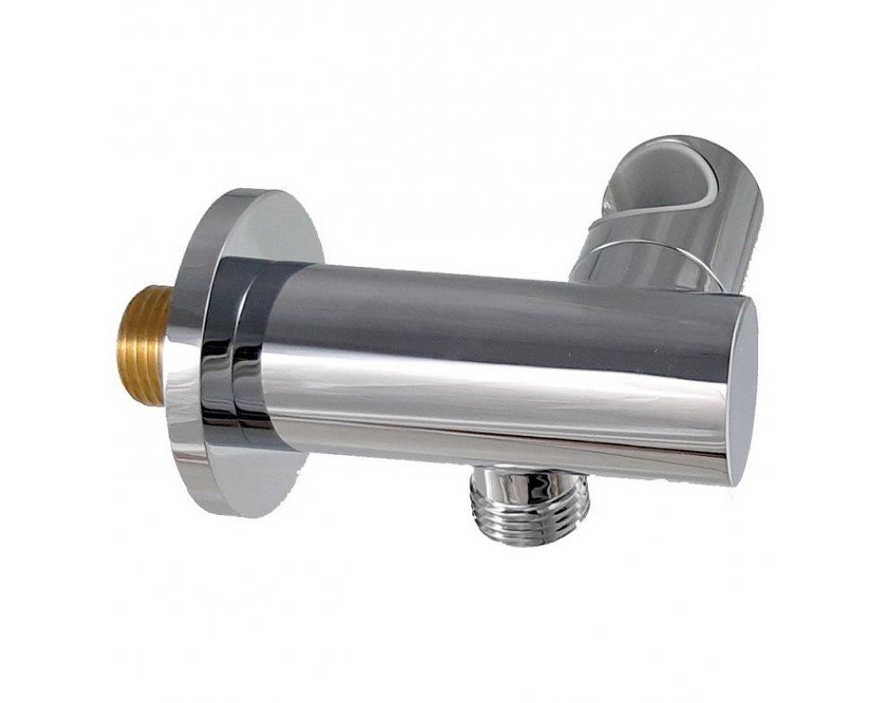 Stenová prípojka na sprchu k podomietkovej batérii, s držiakom ručnej sprchy, okrúhla