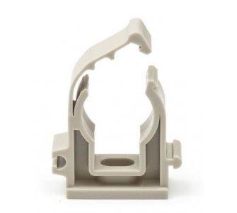 Plastová príchytka s klipom šedá D25