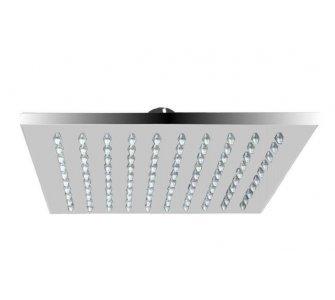 Sprchová hlavica štvorcová, kovová-mosadz, 300 × 300 mm