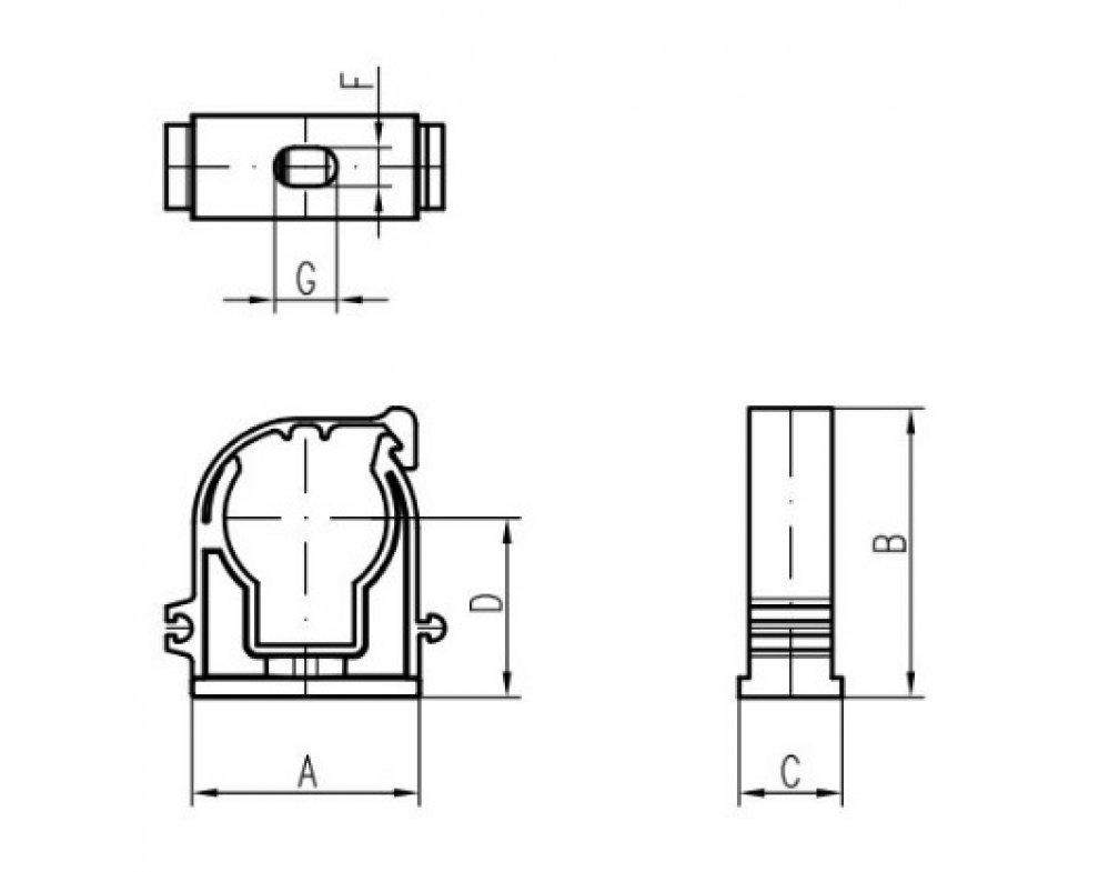 Plastová príchytka s klipom šedá D50