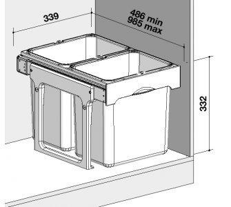 Sorter Sinks EKKO EASY 40 2x16l