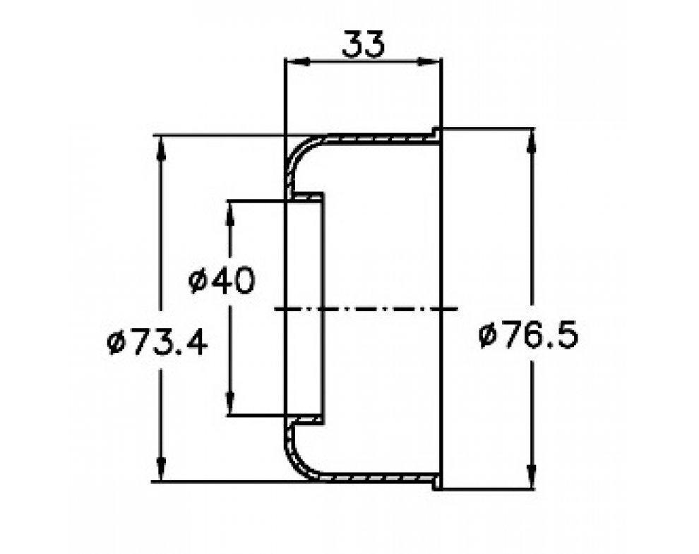 prevlečná krytka potrubia d40