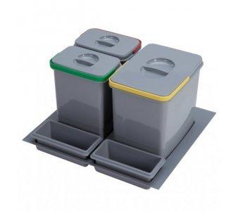 sorter Sinks PRACTIKO 600 1x15l+2x7l