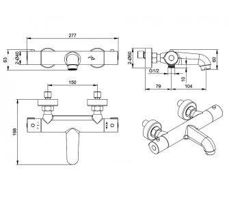 sprchový set termostatickej batérie PERSEI so sprchovou súpravou AIR S