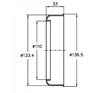 prevlečná krytka potrubia d110
