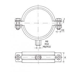 objímka dvojskrutková LUPD M8 314-319mm