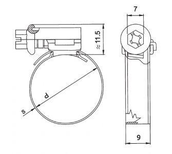 Spona  hadicová W2 140-160mm