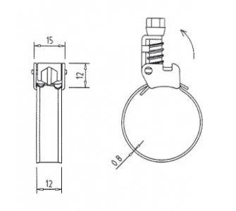 Spona hadicová SERRATUB W2 50-425mm