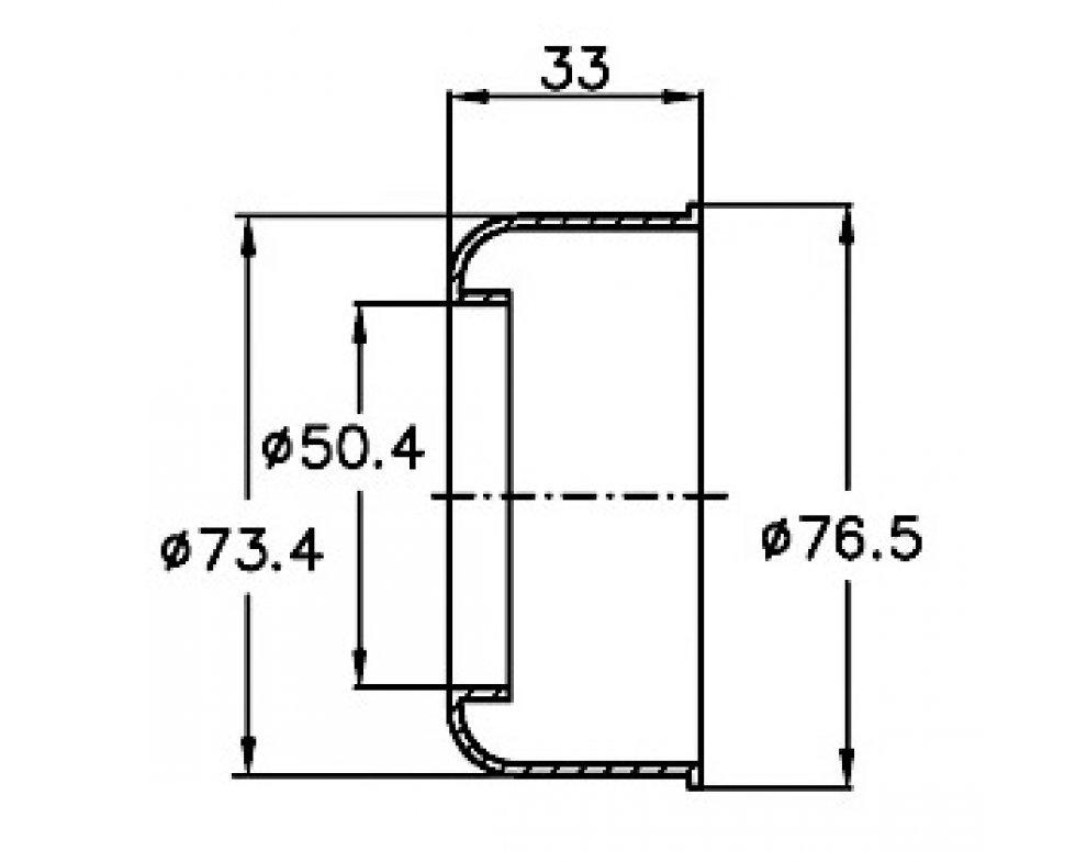 prevlečná krytka potrubia d50
