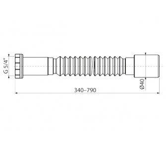 Flexi pripojenie 5/4 ×40 kov
