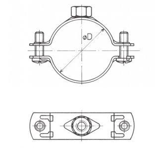 Objímka dvojskrutková bez tlmiacej vložky 32-37mm 1