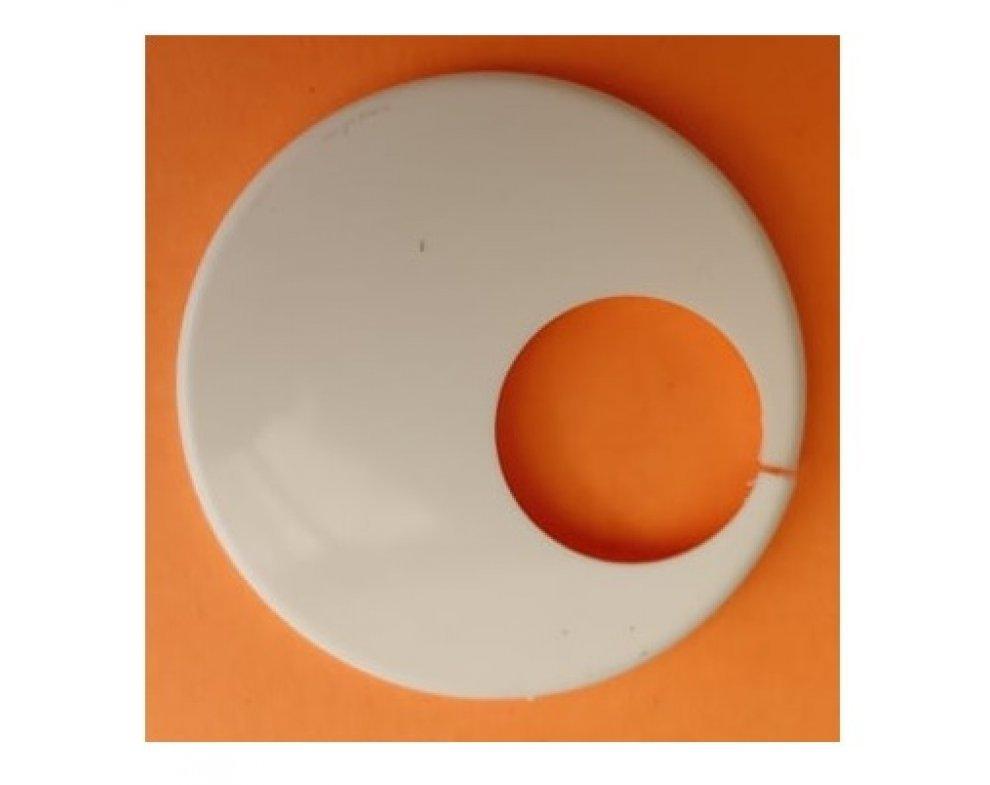krytka trubková jednoduchá excentrická biela 15mm