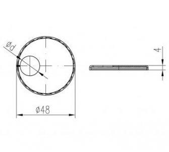 krytka trubková jednoduchá excentrická chróm D15mm