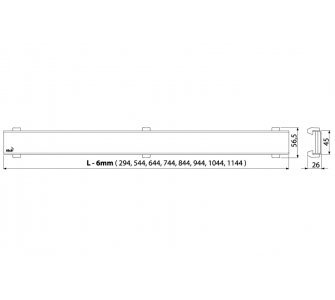 Rošt pre líniový podlahový žľab, bronz-antic