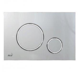 THIN - Ovládacie tlačítko pre predstenové inštalačné systémy, chróm-mat/chróm-lesk