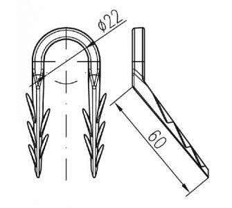 Podlahová príchytka typ E (pr.22mm)