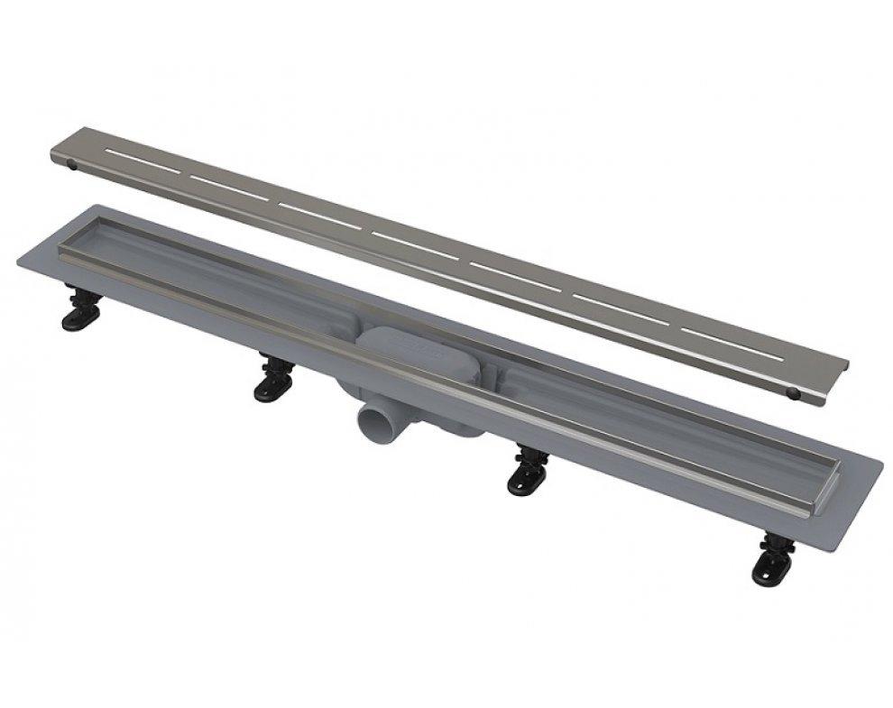 Simple - Podlahový žľab s nerezovým okrajom pre perforovaný rošt, dĺžka 750mm