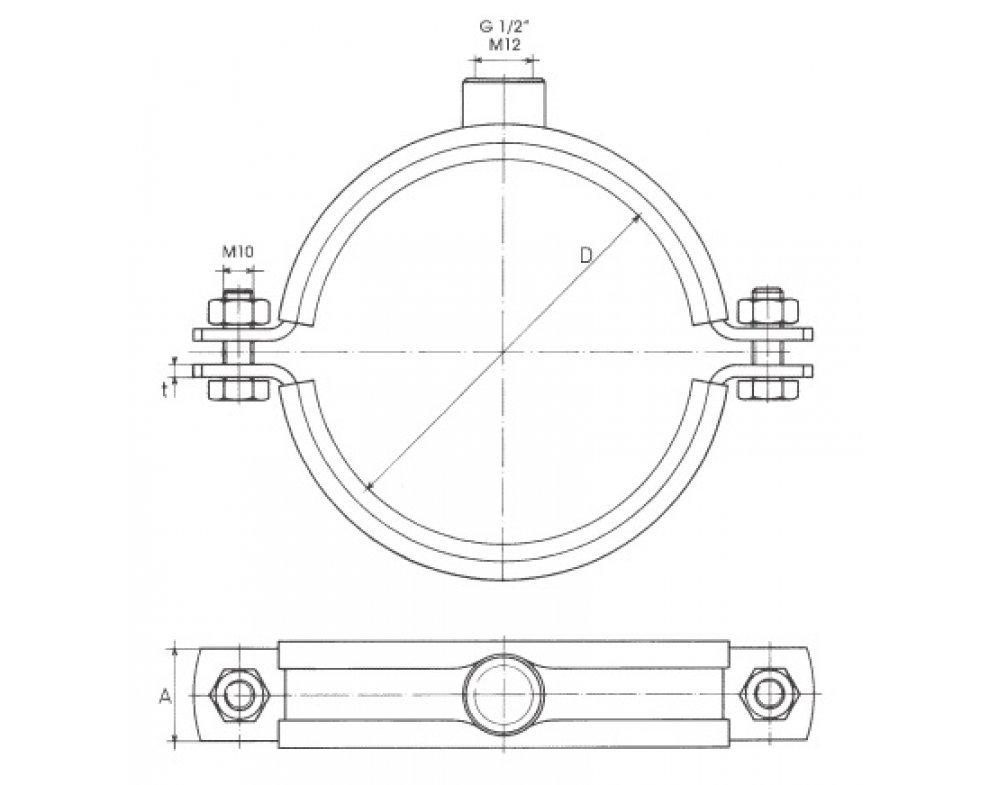 objímka MUPD M12, 273mm