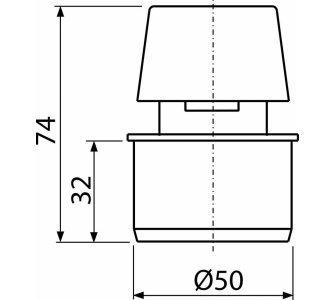 Privzdušňovacia hlavica DN50
