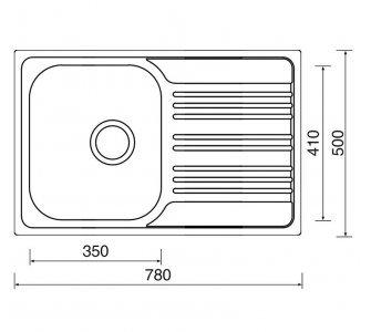 SET drez nerez Sinks STAR 780 V + batéria EVERA