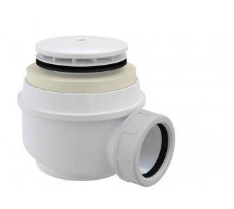 sifón pre sprchové vaničky, prietok 48l/min., d50, DN40, lesklý biely
