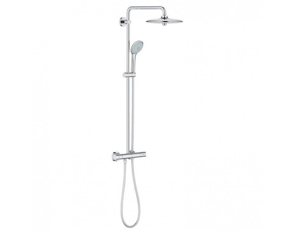 sprchový systém s termostatickou batériou, EUPHORIA SYSTEM 260, chróm