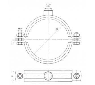 objímka MUPD M12, 63mm, 2