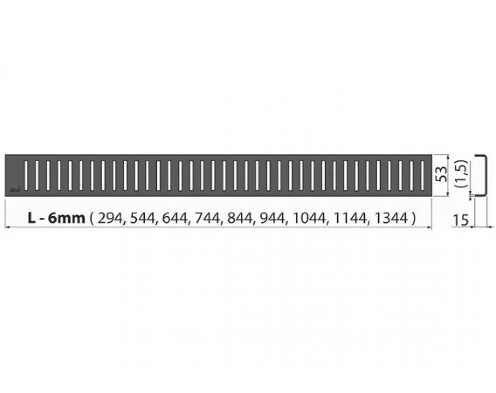 Rošt pre líniový podlahový žľab, 850mm, PURE BLACK, matný čierny