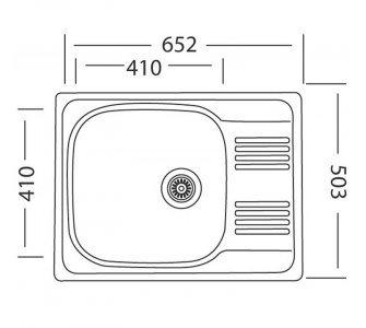 SET drez nerez Sinks GRAND 652 V + batéria LEGENDA S