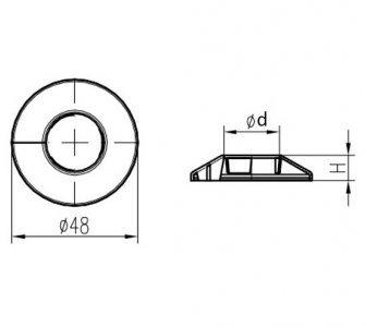 krytka trubková jednoduchá chróm 20mm