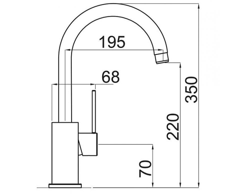 SET drez granit Sinks CLASSIC 740 Granblack + batéria VITALIA GR