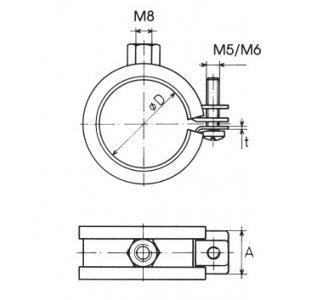 objímka LUPJ M8 3