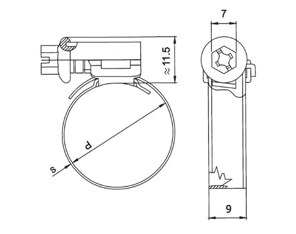 hadic.spona  W2 10-16mm