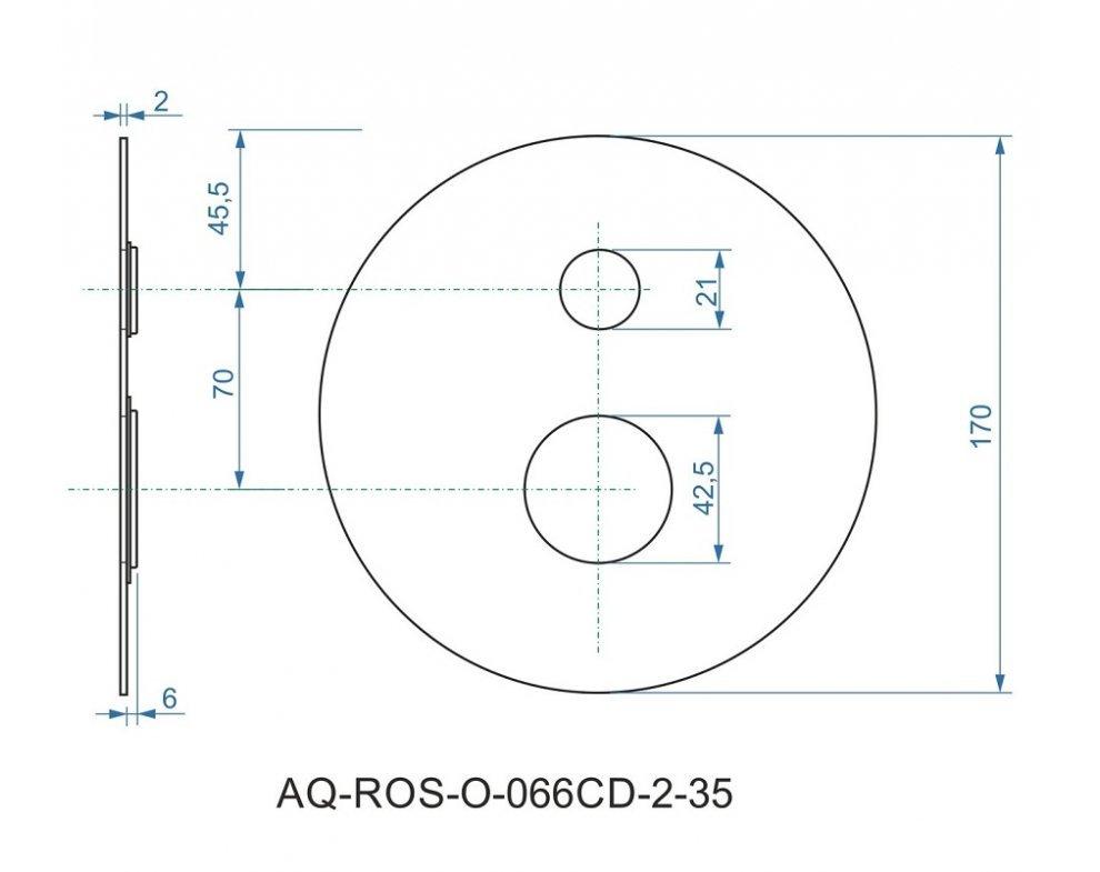 batéria AQS sprchová podomietková pre 2 odberné miesta, s AQ-boxom a s keramickým prepínačom, DAKOTA