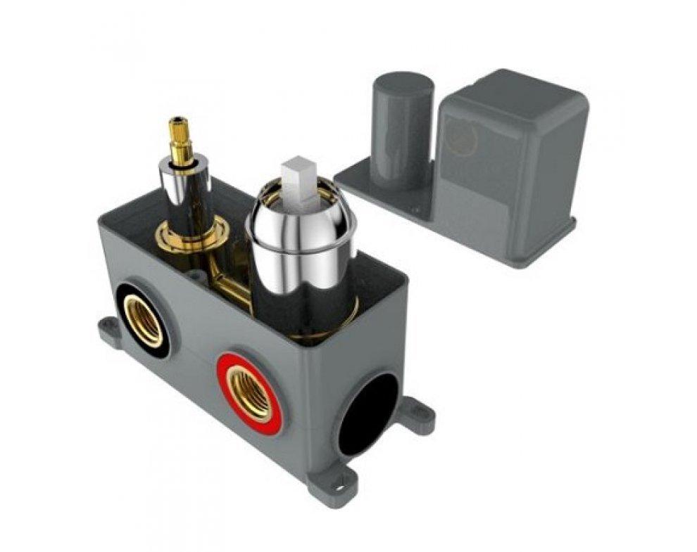 batéria AQS sprchová podomietková pre 3 odberné miesta, s AQ-boxom a s keramickým prepínačom, DAKOTA
