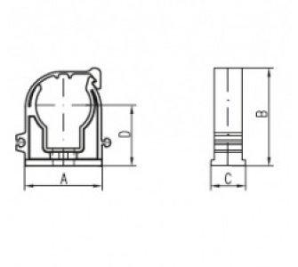 Príchytka D 18 s klipom biela