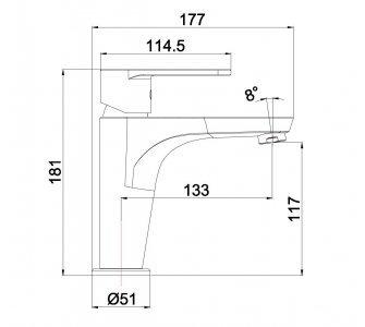 batéria AQS umývadlová stojanková bez odtok. garnitúry, ALTEA