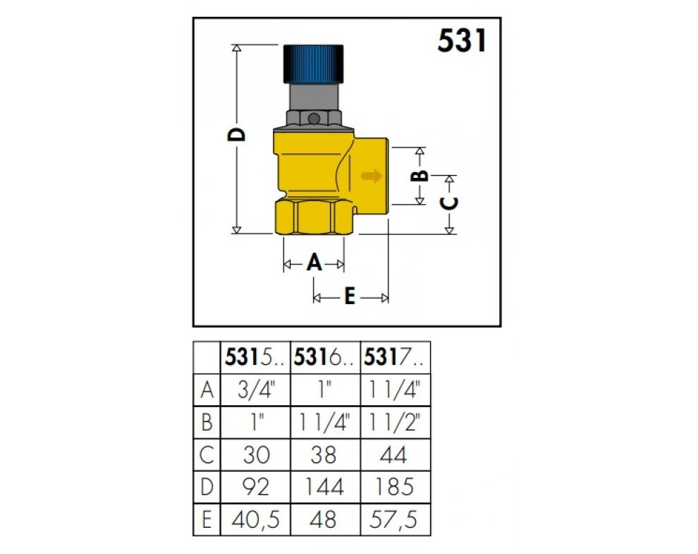 """Poistný ventil pre domáce vodné systémy 3/4"""" x 1"""""""