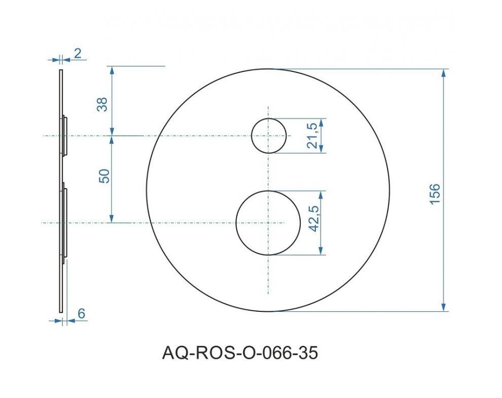 batéria AQS sprchová podomietková pre 2 odberné miesta, s AQ-boxom, ALTEA