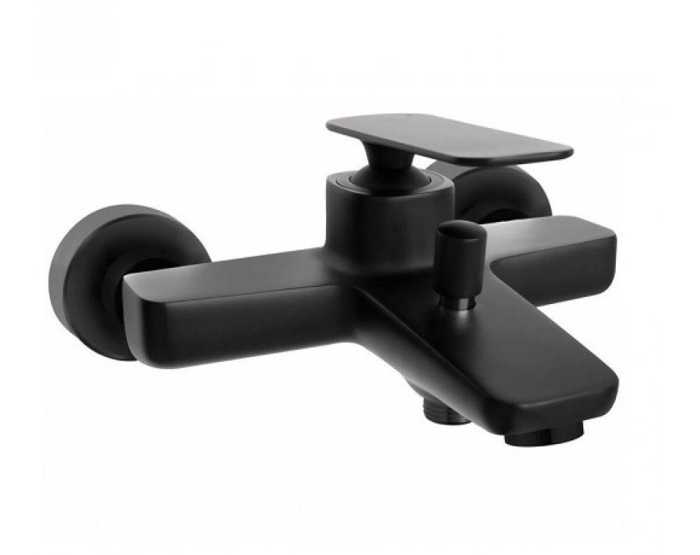 batéria vaňová stenová, s automatickým prepínaním vaňa/sprcha, HERZ ZEN BLACK, čierna